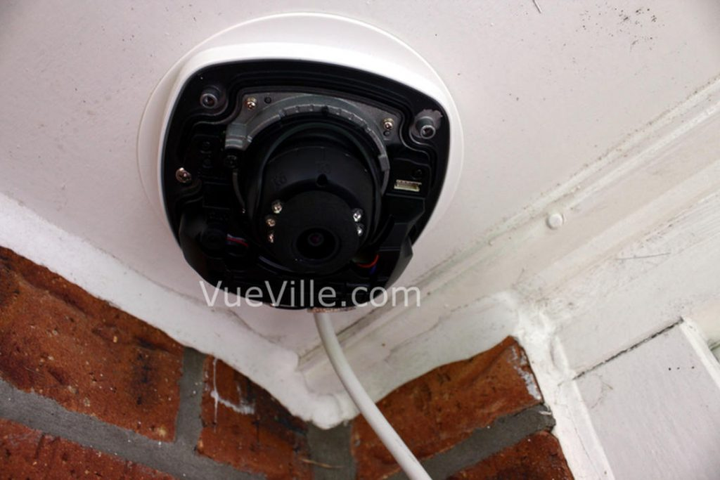 Hikvision DS-2CD2542F-IWS - Installed with dome cover off - VueVille.com