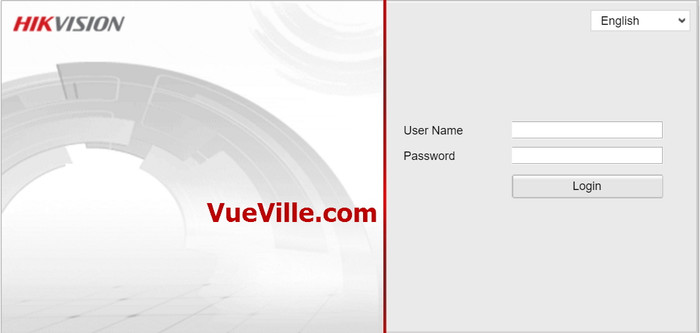 Login screen - Review - Hikvision DS-2CD2132F-IWS - VueVille.com