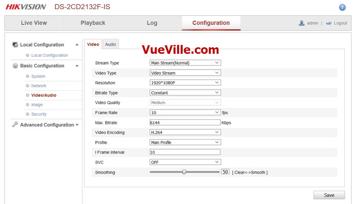 Basic Config - Video - Review - Hikvision DS-2CD2132F-IWS - VueVille.com