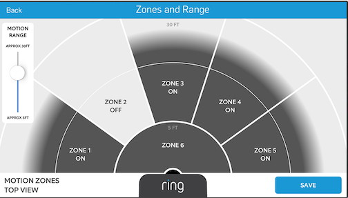 Ring Video Doorbell Pro - Default Motion Detection Zones - VueVille.com