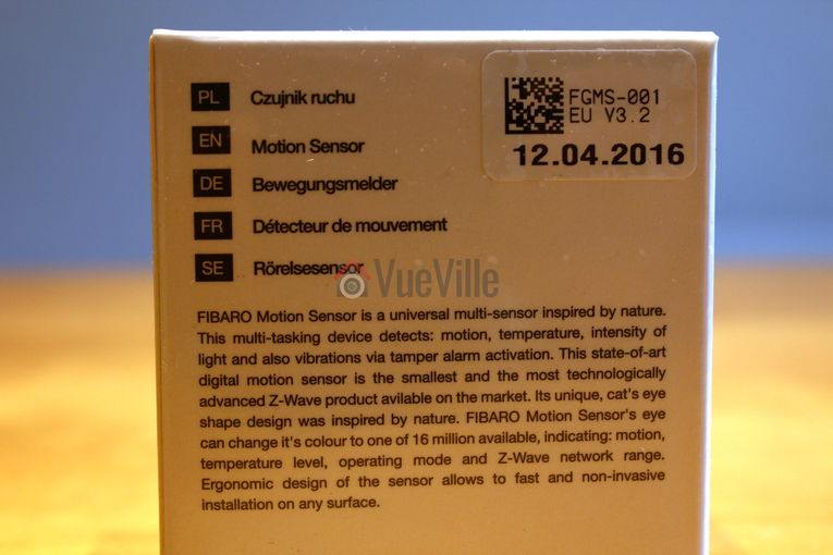 Fibaro ZWave Motion Sensor Multi Sensor Box Back View - VueVille.com