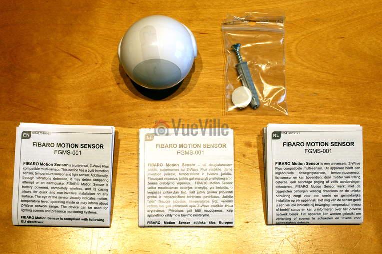Fibaro ZWave Motion Sensor Multi Sensor Box Contents - VueVille.com