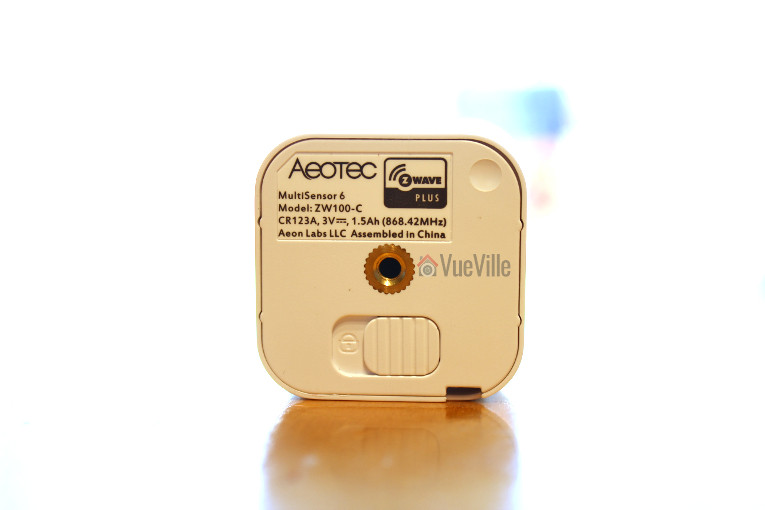 Aeon Labs Aeotec Multisensor 6 Review - Back View - VueVille