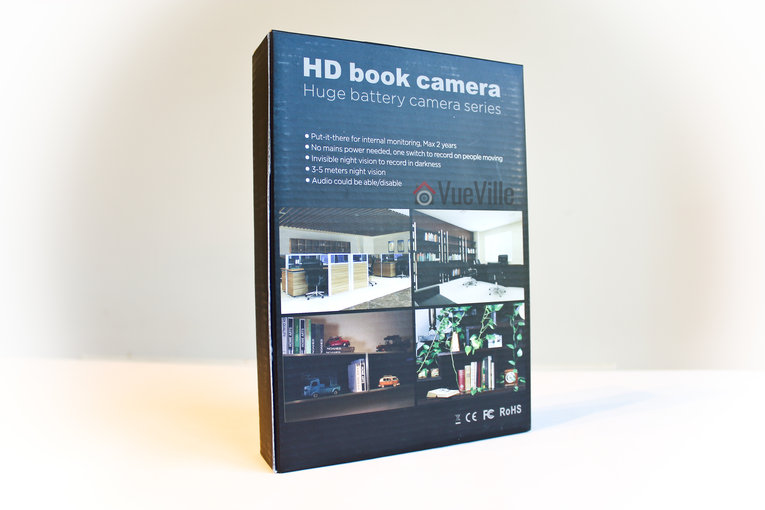 Review Conbrov DV9 1080P Portable Hidden Spy Camera Book - Box Back