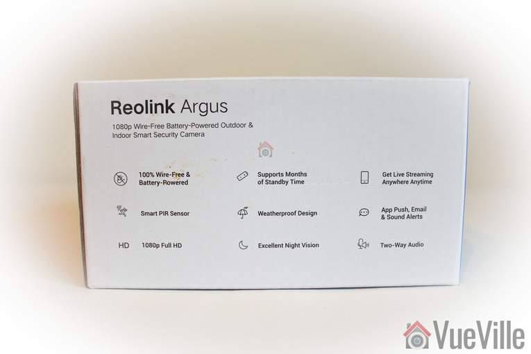Reolink Argus Review - Box Packaging 2 - VueVille
