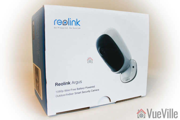 Reolink Argus Review - Box Packaging - VueVille
