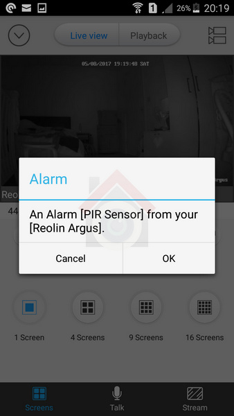 Reolink Argus Review - Mobile App - Mobile Push Notification - VueVille