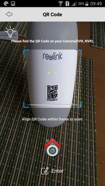 Reolink Argus Review - Setup - 4 - Scan QR code on camera - VueVille