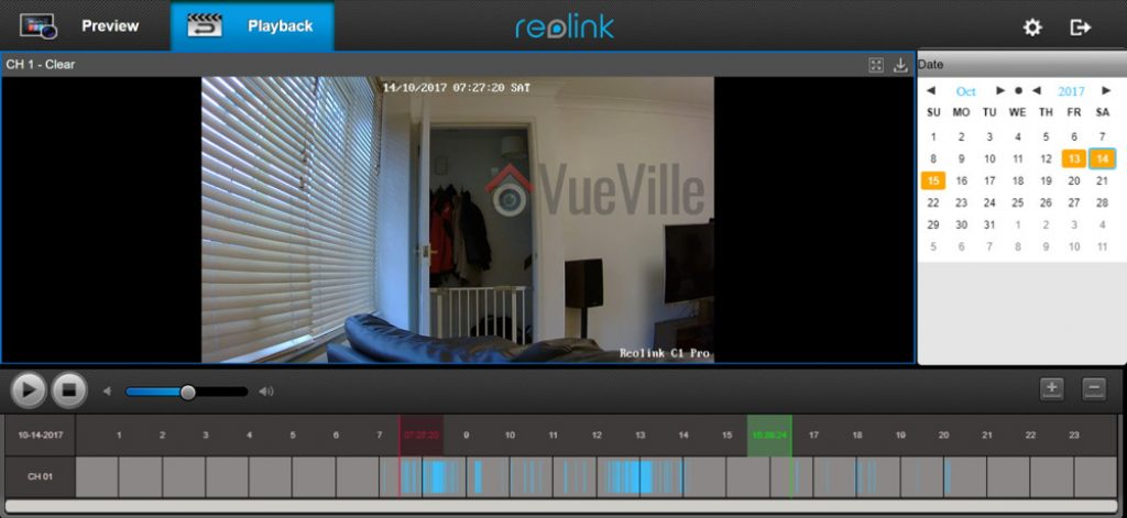 Reolink Web Browser Playback - Reolink C1 Pro Review Pan-Tilt Indoor Security Camera - VueVille
