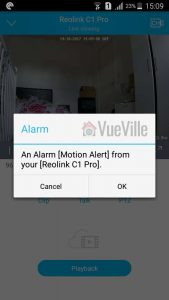 Reolink Android Mobile App Push Notification - Reolink C1 Pro Review Pan-Tilt Indoor Security Camera - VueVille