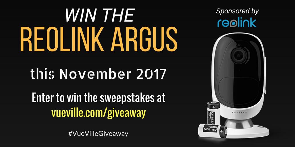 Win A Reolink Argus With Vueville November 2017 Vueville