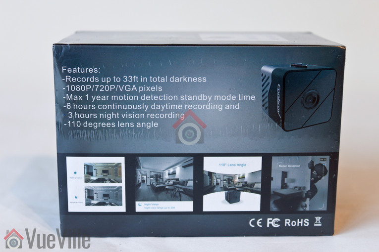 Review - Conbrov T33 - 1080p Portable Hidden Spy Camera - Box View