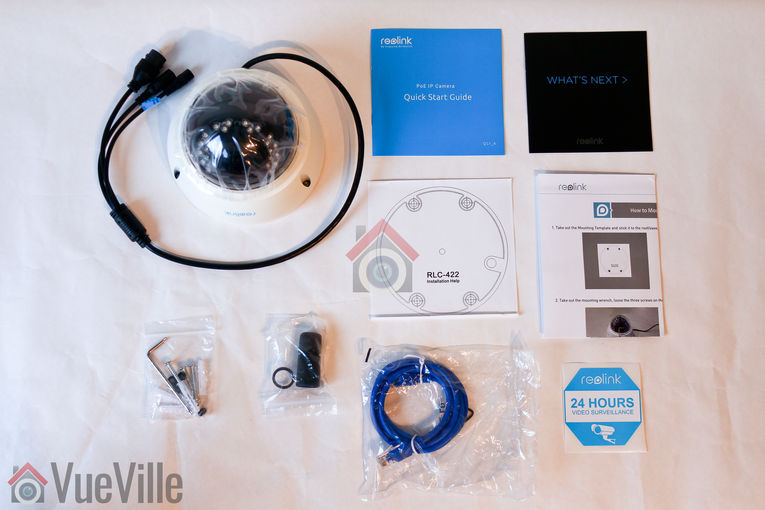 Review - Reolink RLC-422 - Box contents - VueVille
