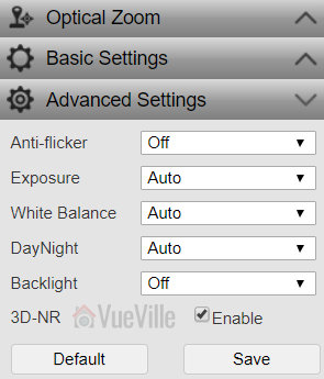 Review - Reolink RLC-422 - Web Admin Adv Settings - VueVille
