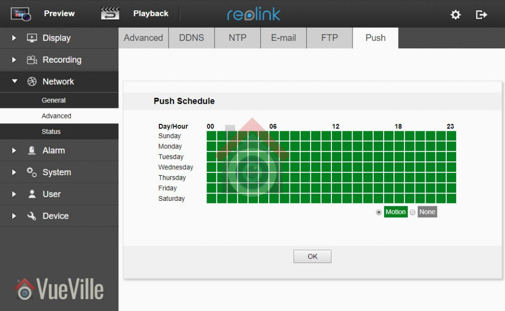 Review - Reolink RLC-422 - Web Admin Push - VueVille