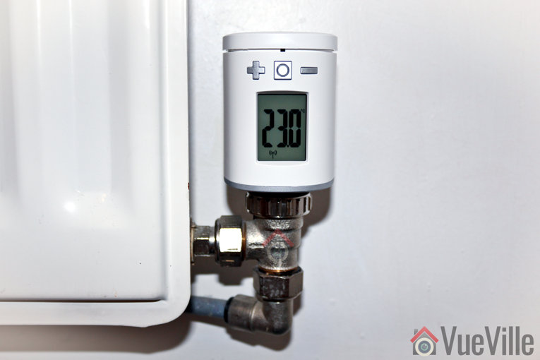 Review - Z-Wave Eurotronic Spirit Smart Radiator Thermostat - Installed
