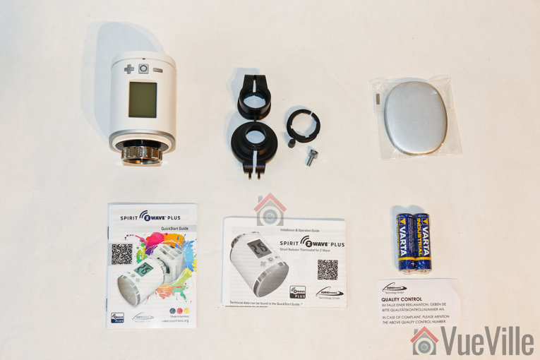 Review - Z-Wave Eurotronic Spirit Smart Radiator Thermostat - Box Contents