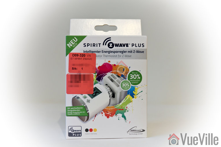 Review - Z-Wave Eurotronic Spirit Smart Radiator Thermostat - Box Front