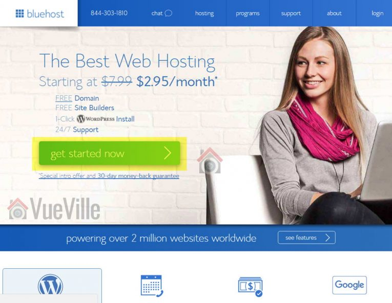 BlueHost Signup 1 - How to set up a money making tech blog - VueVille