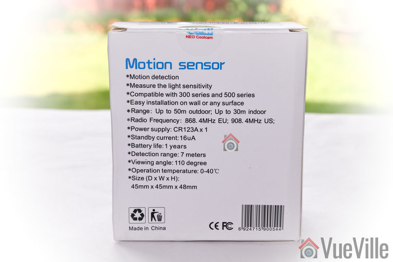 Neo Coolcam Motion Sensor - Box rear - VueVille
