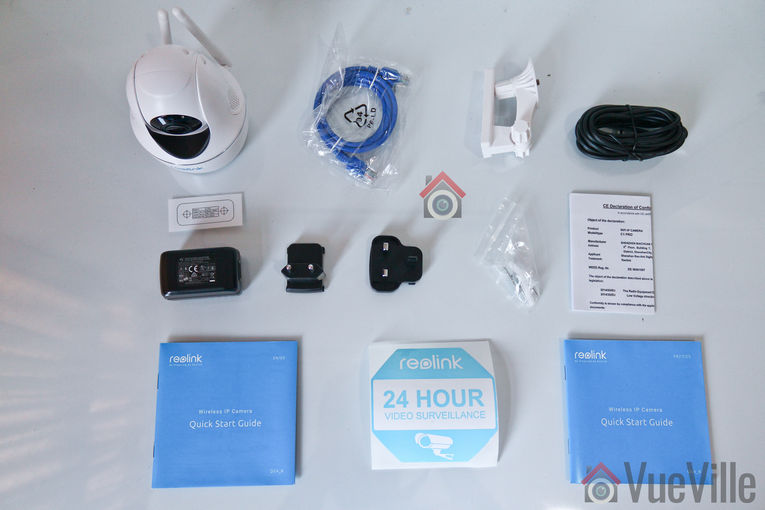 Review - Reolink C2 Pro PTZ Indoor Security Camera - What's in the box - VueVille
