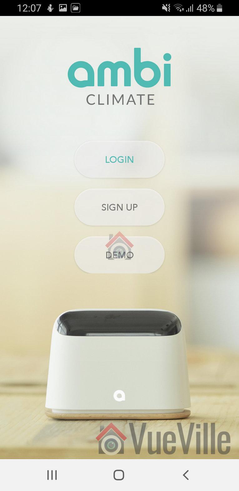 Ambi Climate Review - App Setup - VueVille