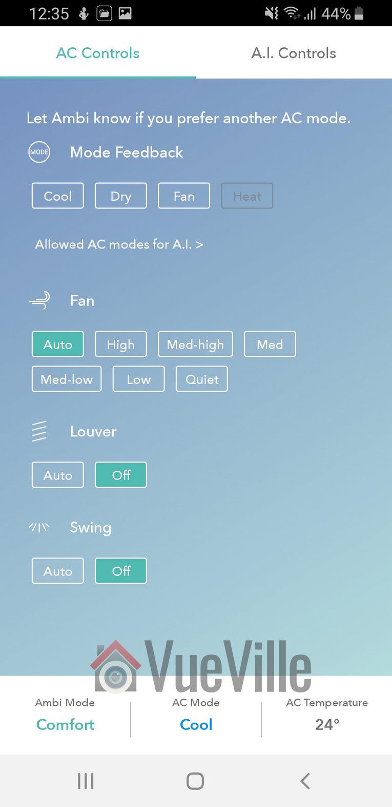 Ambi Climate Review - App Review - AC Controls - VueVille