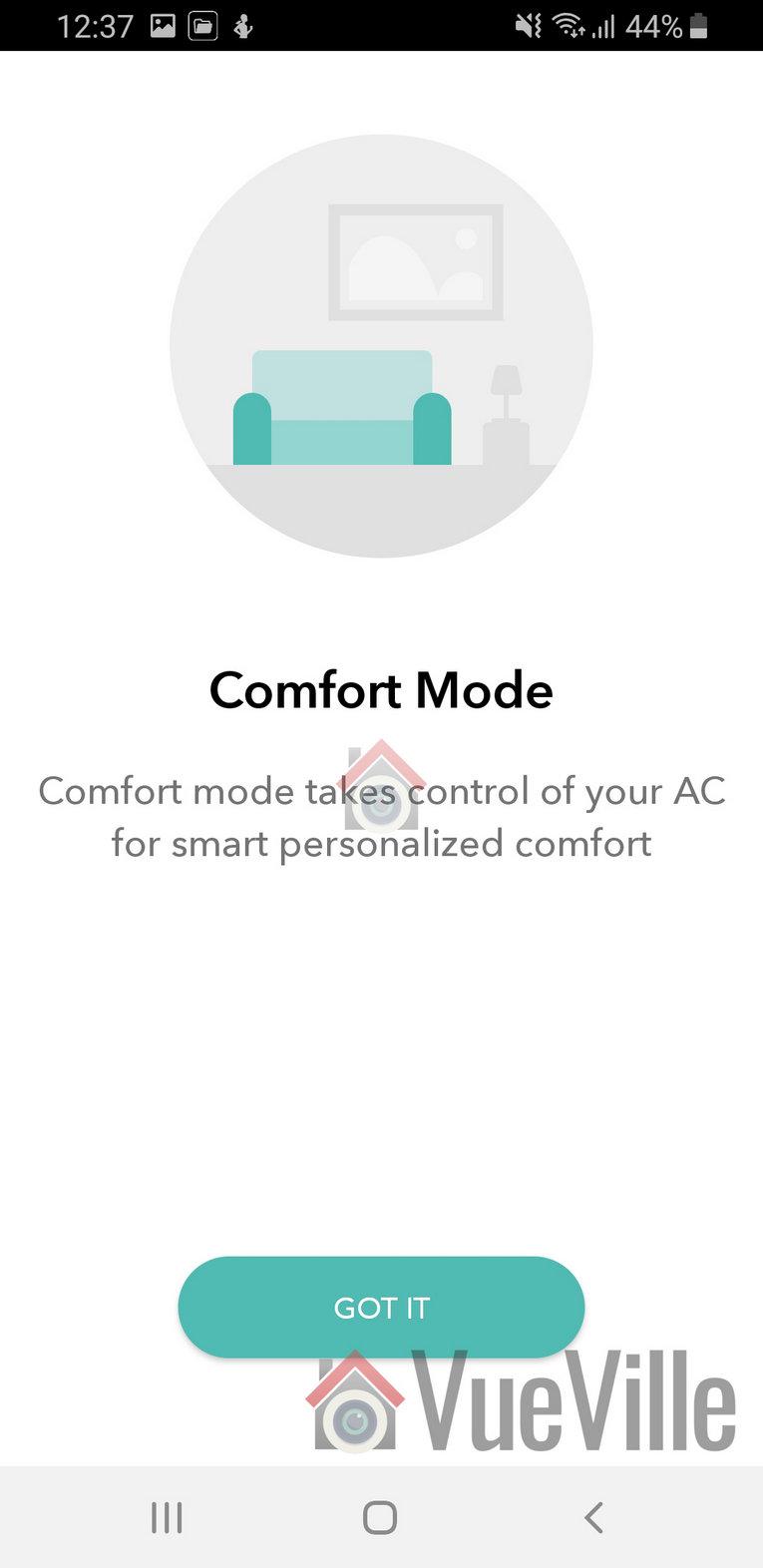 Ambi Climate Review - App Review - Comfort Mode - VueVille