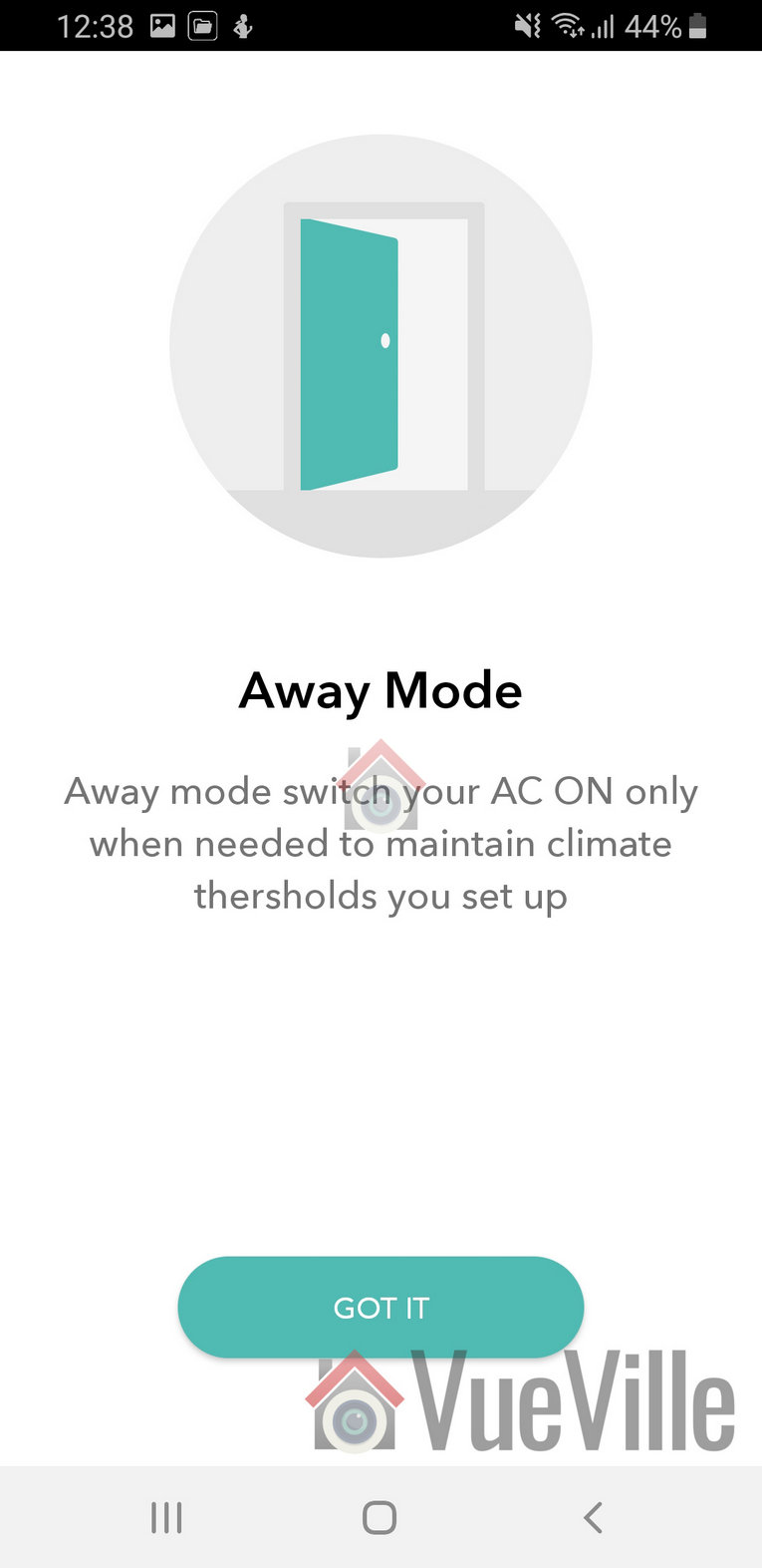 Ambi Climate Review - App Review - Away Mode - VueVille