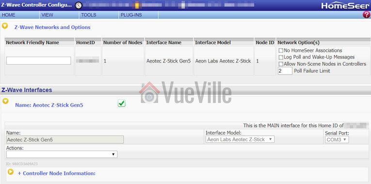 Review - Aeotec Z-Stick USB Z-Wave Controller - Setup 3 - VueVille