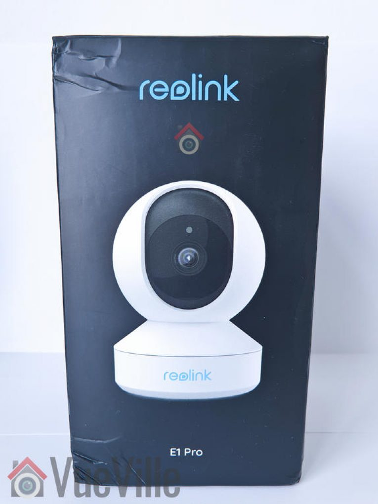 VueVille Review - Reolink E1 Pro PT Indoor Security Camera - Box front