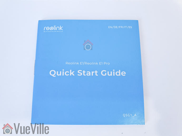 VueVille Review - Reolink E1 Pro PT Indoor Security Camera - Quick Start Guide