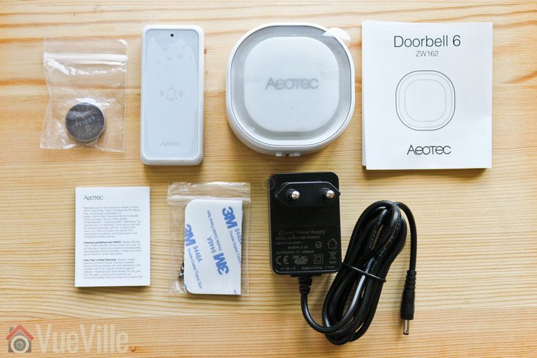 Hands-on Review - Aeotec Doorbell 6 Z-Wave - Box Contents - VueVille
