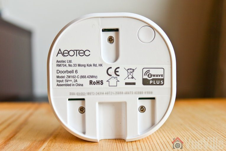 Hands-on Review - Aeotec Doorbell 6 Z-Wave - Chime Rear - VueVille