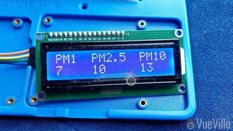 Arduino Air Quality Sensor - LCD 1602A - VueVille