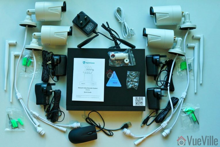 Heimvision Wireless Security Camera System (HM-241) Review - Box Contents - VueVille