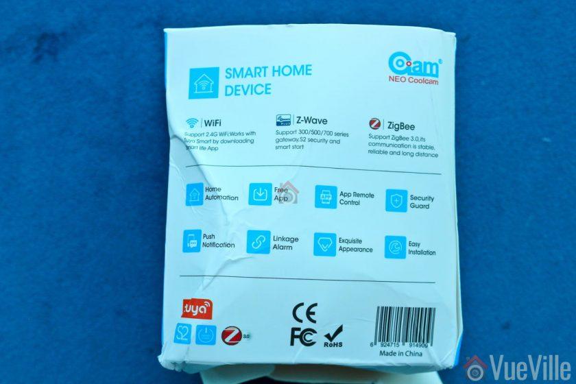 Review - Neo Coolcam Z-Wave Smart Power Plug - Box Back