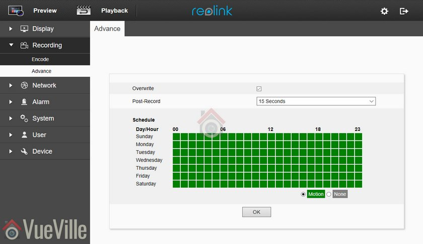 Review - Reolink RLC-511 - Web Admin 005 - VueVille