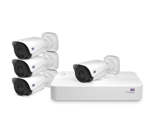 WD ReadyView Surveillance System - 4 channel NVR Kit - VueVille