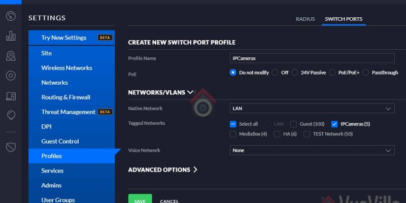 How-to: Group Wired PoE Security Cameras in a VLAN using Unifi