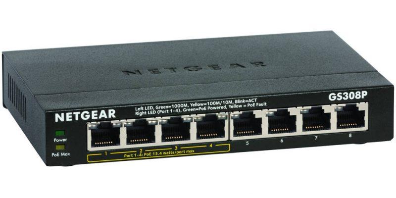 Review: Netgear ProSAFE GS308P 8-Port Gigabit PoE Switch