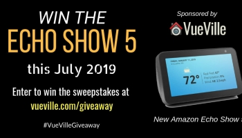 Win the new Amazon Echo Show 5 Alexa with VueVille – July 2019
