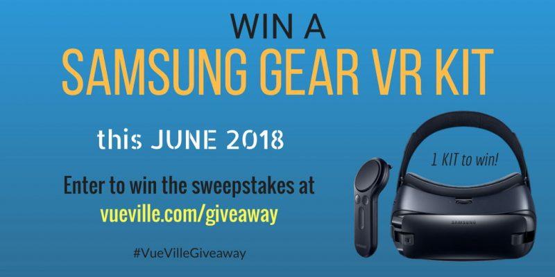 Win A Samsung Gear VR Wireless Controller Kit with VueVille – June 2018