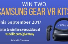 Win 2 Samsung Gear VR and Wireless Controller kits with VueVille – September 2017