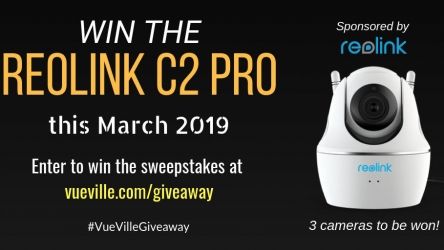 Win a Reolink C2 Pro with VueVille – March 2019